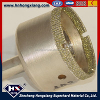 High quality electroplated diamond core drill bit for glass cutting