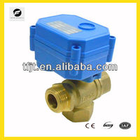 TF 3 way mini motorized water ball solenoid valve CWX-15Q series for air condition system,water treatment