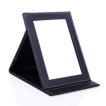 Leather PU foldable makeup Mirror