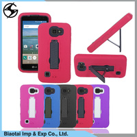 Heavy Duty Shockproof Hard PC+TPU Cover Shockproof Hybrid Phone Case for LG K4/Zone 3 with bracket