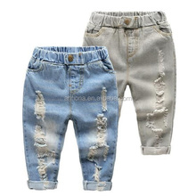 F41027A Wholesale kids clothing fashion ripped hole new style boys pants jeans