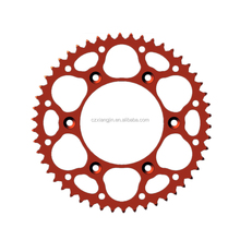 Colorful anodized motorcycle sprockets and gear for pit bike