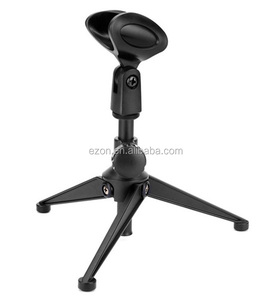Table microphone stand,Desktop microphone stand,Professional Adjustable Tripod Microphone Stand