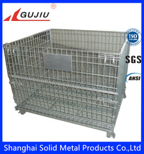 pallet box chrome stackable heavy duty euro wire mesh containers