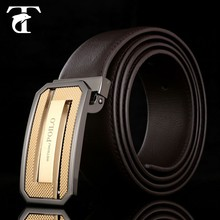 Top sale fashion homemade male luxury designer chastity genuine leather belt for men