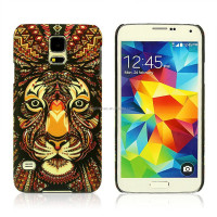 Night Light Tiger Embossment PC Hard Cover For Samsung Galaxy S5 Case