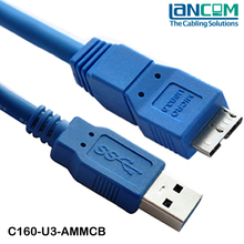 USB 3.0 A Male To Micro B Male Plug Adapter Extension Cable