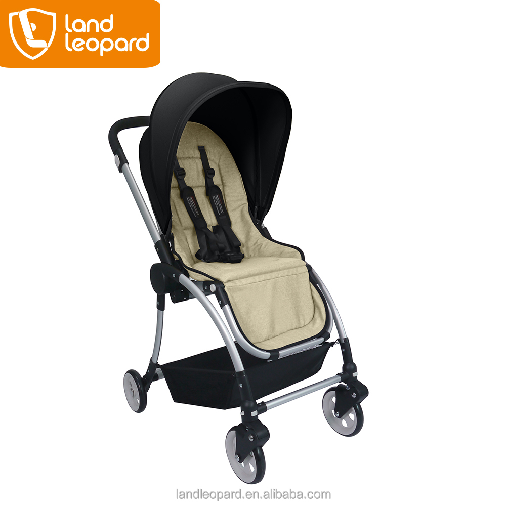2016 simple light-weight baby carriages with non-inflatable crude rubber wheels & convenient for mom to carry outside