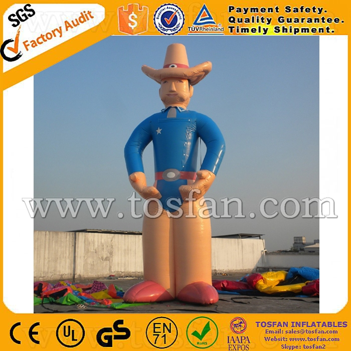 Giant inflatable cowboy advertising inflatable cartoon F1053