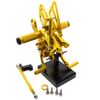 New design economic and reliable motorcycle rear set CNC footrest rearset pedal with gold color