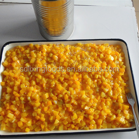 factory supply best 3kgs china canned peach dices