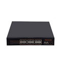 24 Port 10 / 100Mbps + 2 Gigabit SFP + 2 Gigabit Uplink unmanaged PoE Switch