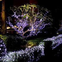 Alibaba Hot sale Solar panel operated Christmas decoration 1.2V 50L Led string light for outdoor
