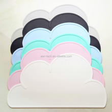 BPA free Cloud shape <strong>kids</strong> silicone meal mat placemat eat mat