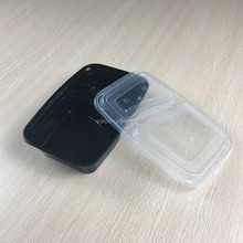 wholesale 900ml / 32oz 2 compartments disposable plastic takeaway / eco friendly food packaging container,deep lunch box