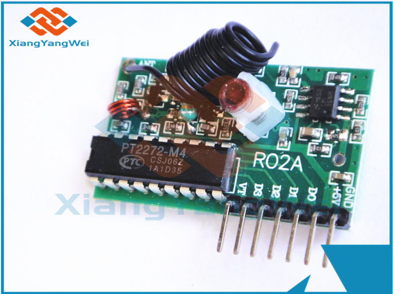 IC 2262/2272 433MHZ 4 Channel Wireless Remote Control Kits 4 key For Arduino