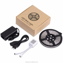 5m Smd Led tape 5050 Rgb Ip65 Waterproof 300 Led Tape Light kit with 24 Key Remote controller and power supply