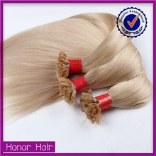 Top quality Brazilian Blonde Hair , I Tip / Nail Tip /Flat Tip Prebonded Hair Extension,Pre-bonded Hair Extension
