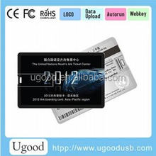 High writing and reading speed real capacity gift Credit Card USB drive with free full color printing