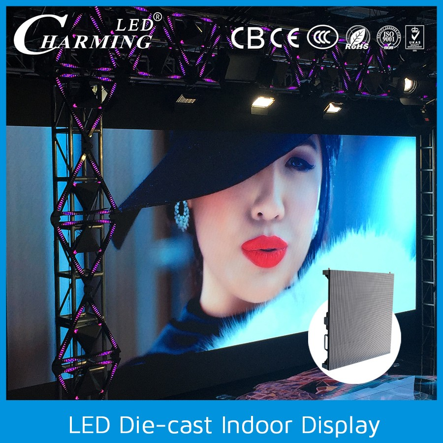 Television station indoor video led wall / programmable led display / electronic display