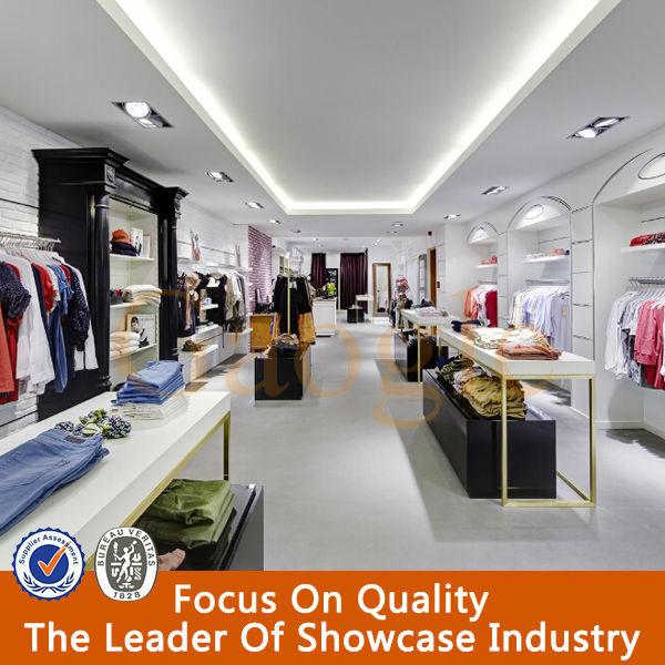 fashionable interior design garments shop decoration, View ...
