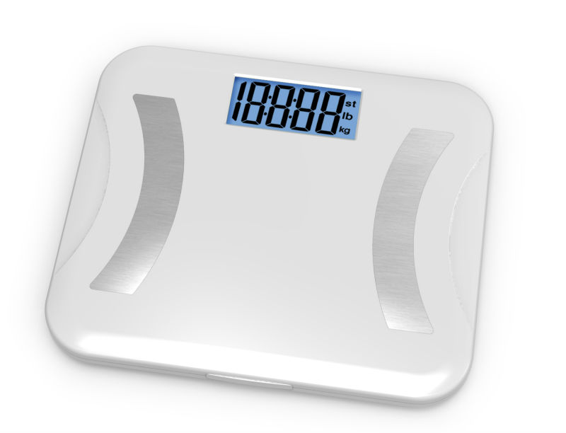 ABS Plastic Platform Human Weighing Scale Measuring 6 Body Indexes