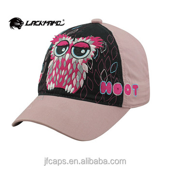 embroidery of owl and printing fashion style new 2014 baseball and golf hats and caps