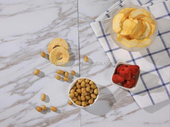 Nutritious healthy crunchy apple chips in bulk package