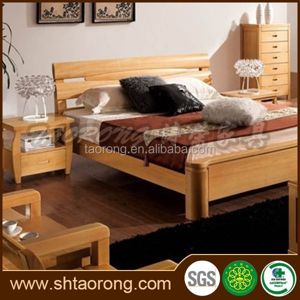 New comfortable solid wood adult single bed