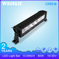 Shenzhen supplier high power single row 13.5 inch 60w led used strobe light bars