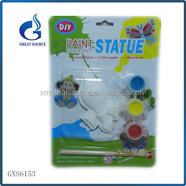 cheap kids diy painting fish ceramic paint kits