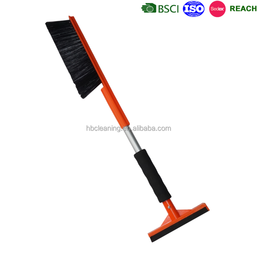 snow removal tools, sno brum with ice scraper, snow moover with rubber wiper