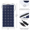 Sun power Solar Panle for Boats 100w Flexible Solar panel