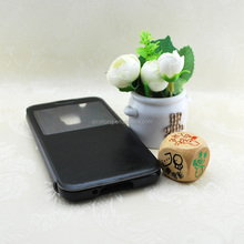 TPU+PU Stick a skin leather case for Sumsung S5 G900