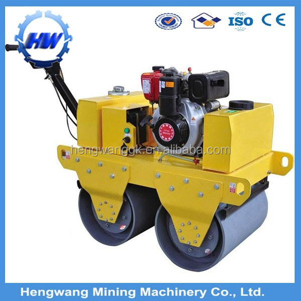 Small honda engine gx270 gx390 walk behind vibratory road roller for sale