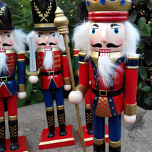 Wooden nutcracker hanging ornament Christmas