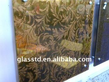 8-24mm tea glass laminated glass for hotel decorations