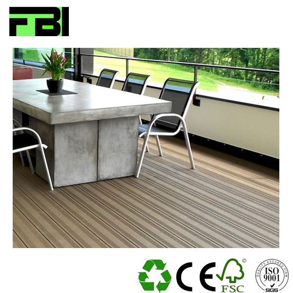 CE WPC outdoor flooring merbau hardwood flooring wood plastic decking