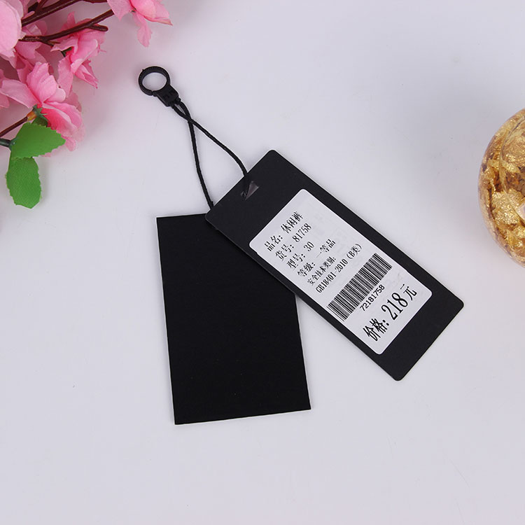 Fashionable Paper Clothing Hang Tag With Metal String