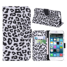 For iPhone 6 7 8 case leopard pattern leather wallet standing cell phone case for iPhone 6 7 8 with card slot
