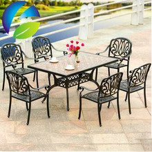 European style outdoor garden cafe courtyard creative used picnic table and chairs for sale