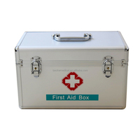 Aluminum alloy first aid kit box for home and office / First aid kit medical box