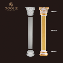 Goolee Classic Design Factory Price PU Decoration Roman Pillar