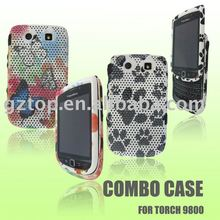 DESIGN MESH COMBO MOBILE PHONE CASE FOR BLACK BERRY TORCH 9800