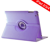 Auto sleeping tablet cases for i pad cases rotate 360 degree leather skin for iPad 2/3/4 Mini