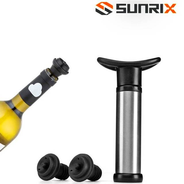 Pump Wine Saver Preserver with 2 Reusuable Stoppers