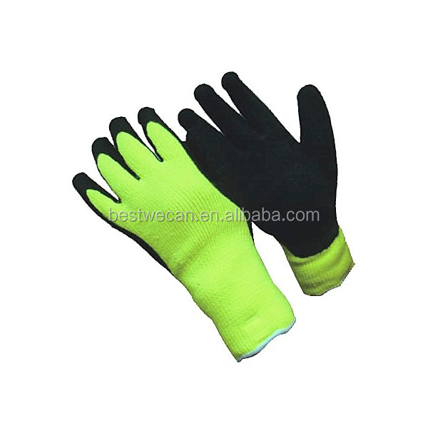 100% Latex dipped glove for cold store FREEZER GLOVE