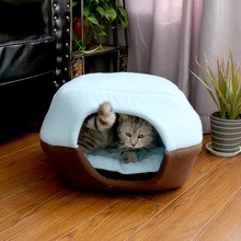 Luxury Super Soft Plush Indoor Cat Bed House Dog Pet House