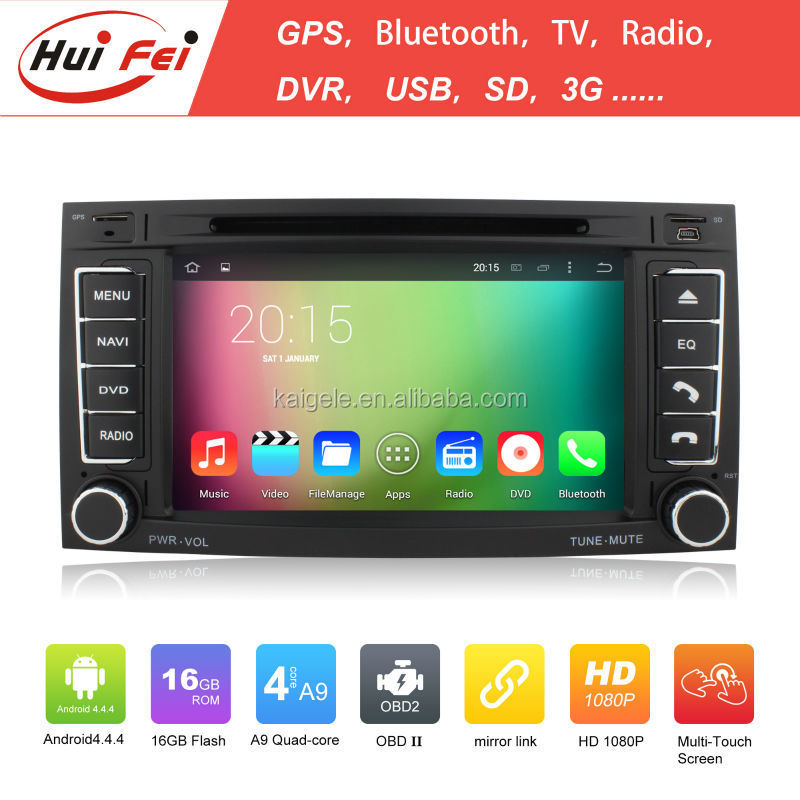Quad core A9 16GB android 4.4.4 1024*600 HD car dvd player for VW Tourage T5 Multivan Transporte