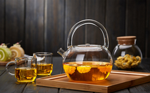 HOT SALES hand made heat resistant borosilicate glass teapot set/glass tea set/glass pot